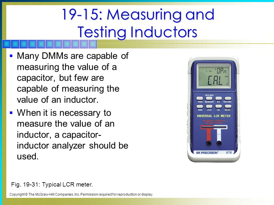 19-15: Measuring and Testing Inductors