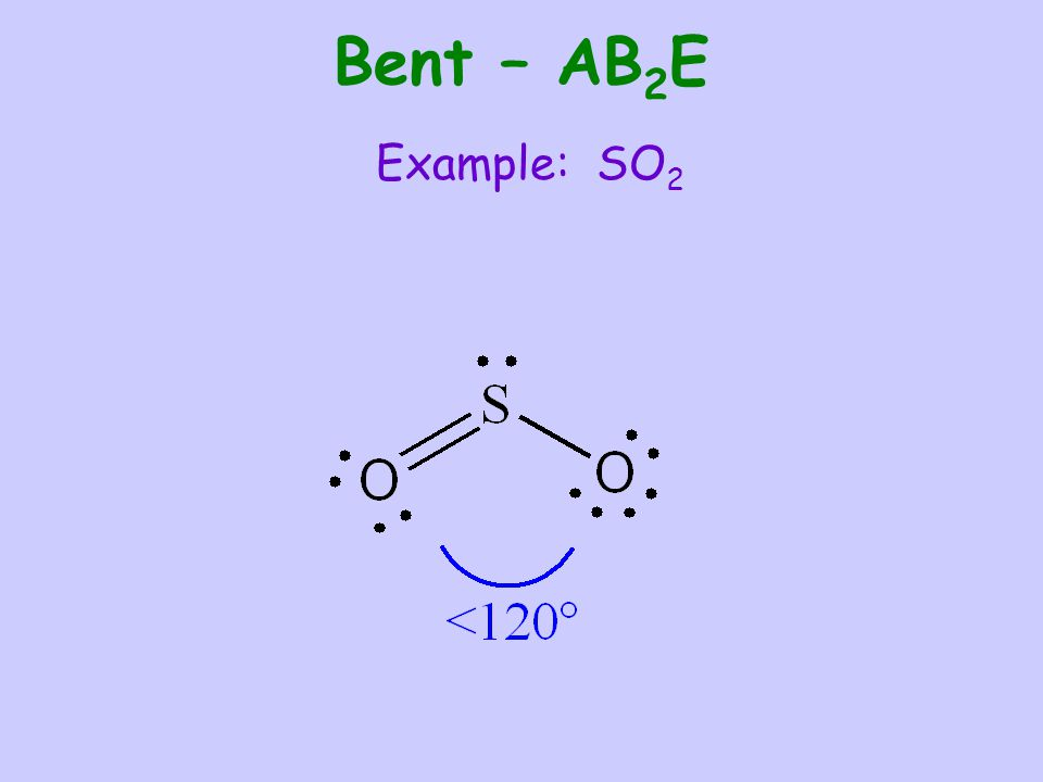 Bent – AB2E Example: SO2