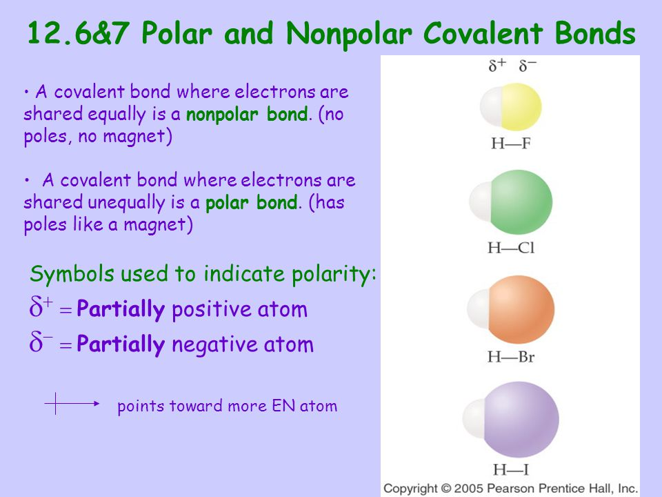 12.6&7 Polar and Nonpolar Covalent Bonds
