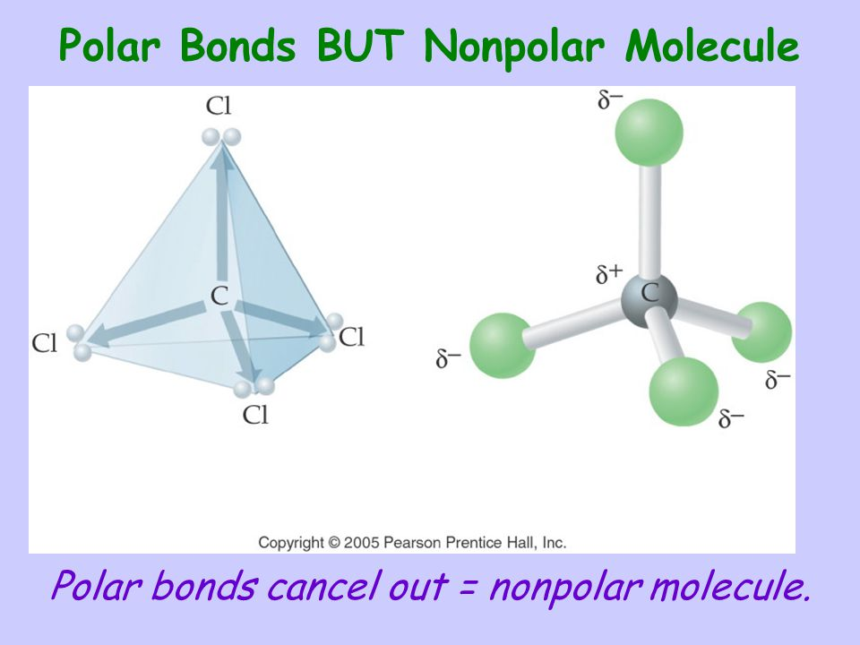 Polar Bonds BUT Nonpolar Molecule