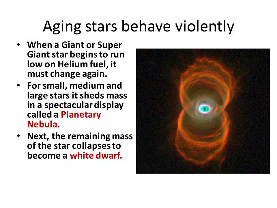 Aging stars behave violently