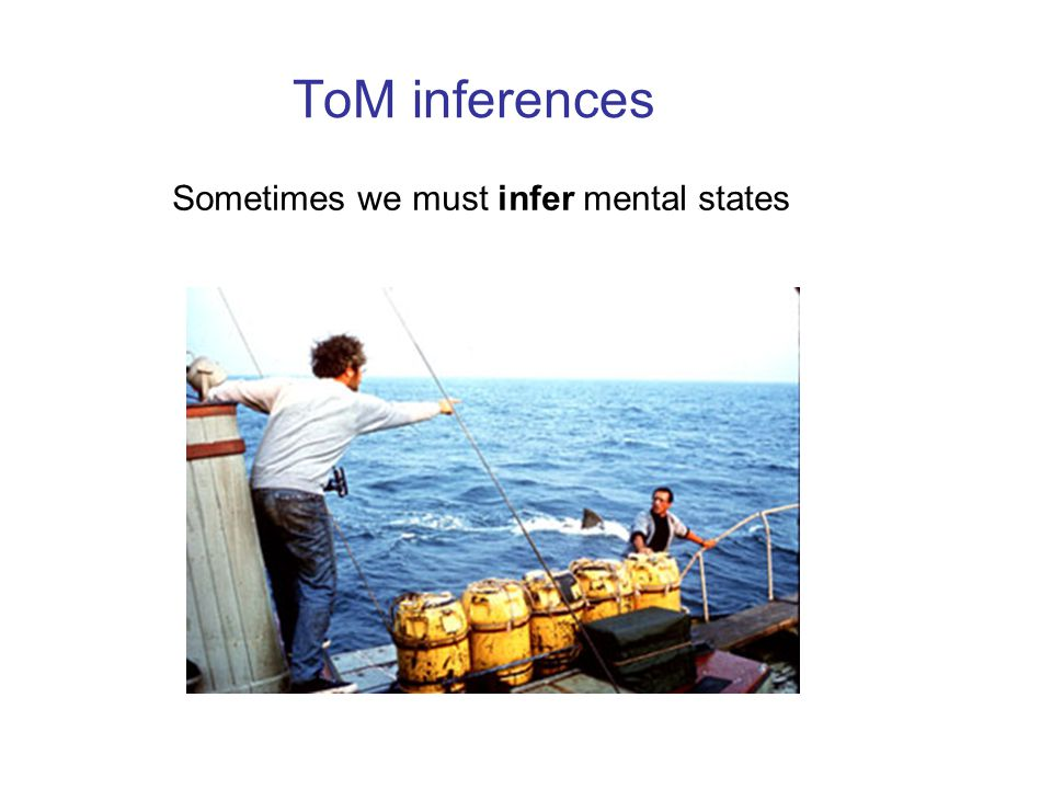 ToM inferences Sometimes we must infer mental states