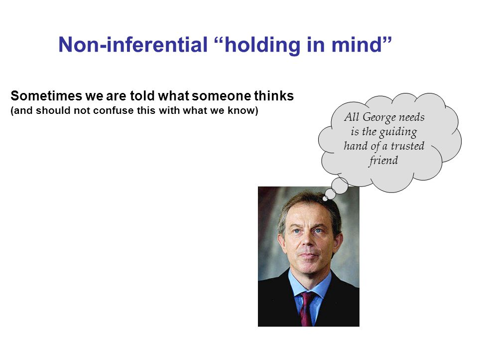 Non-inferential holding in mind
