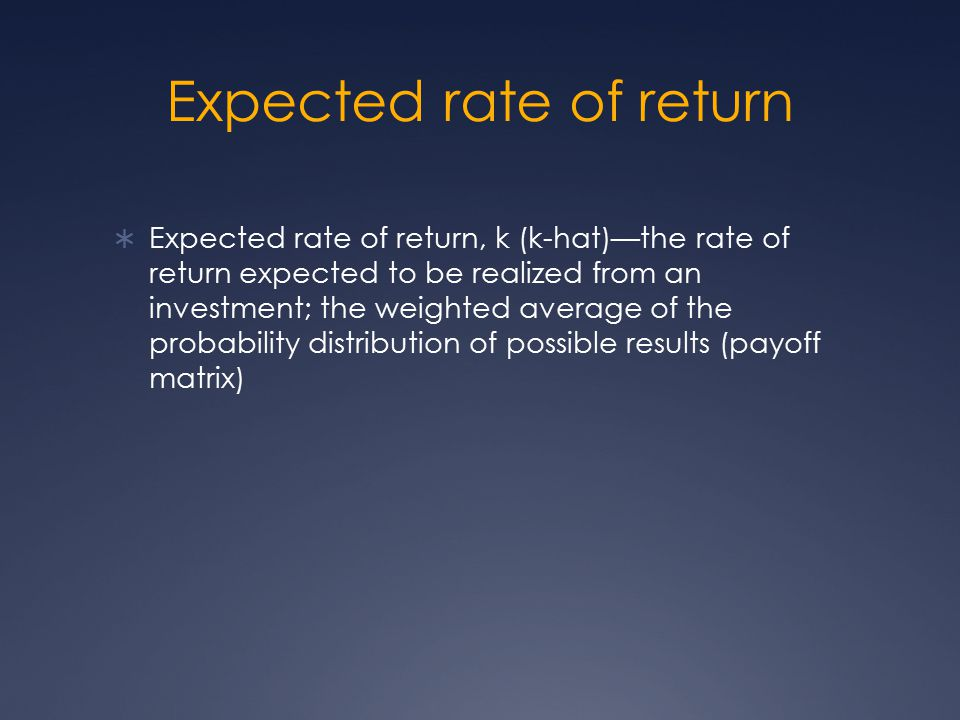 Expected rate of return