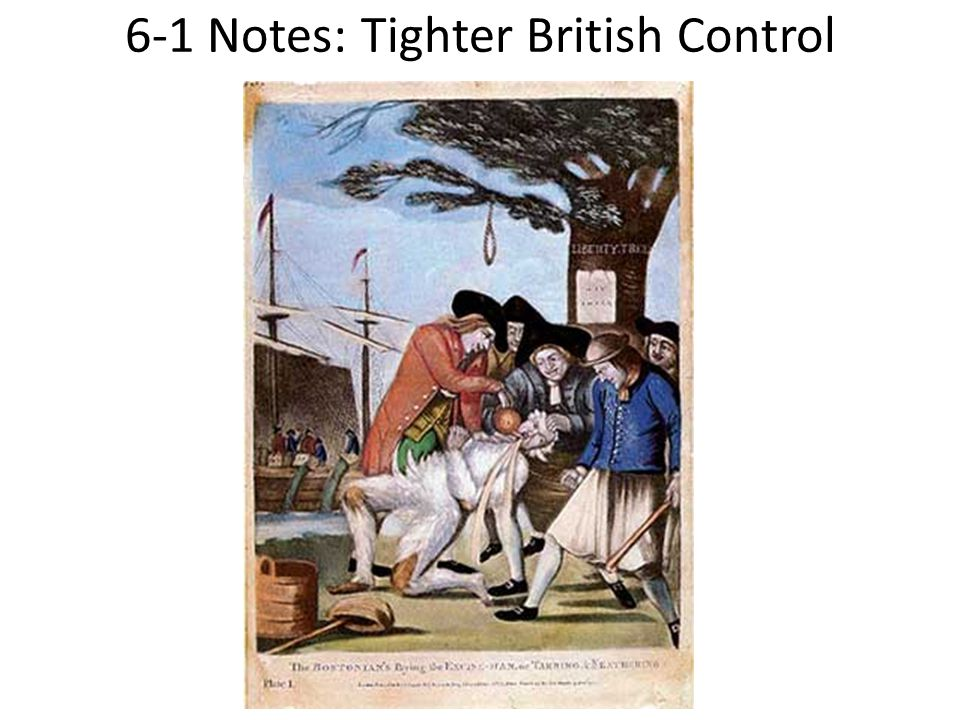 6-1 Notes: Tighter British Control