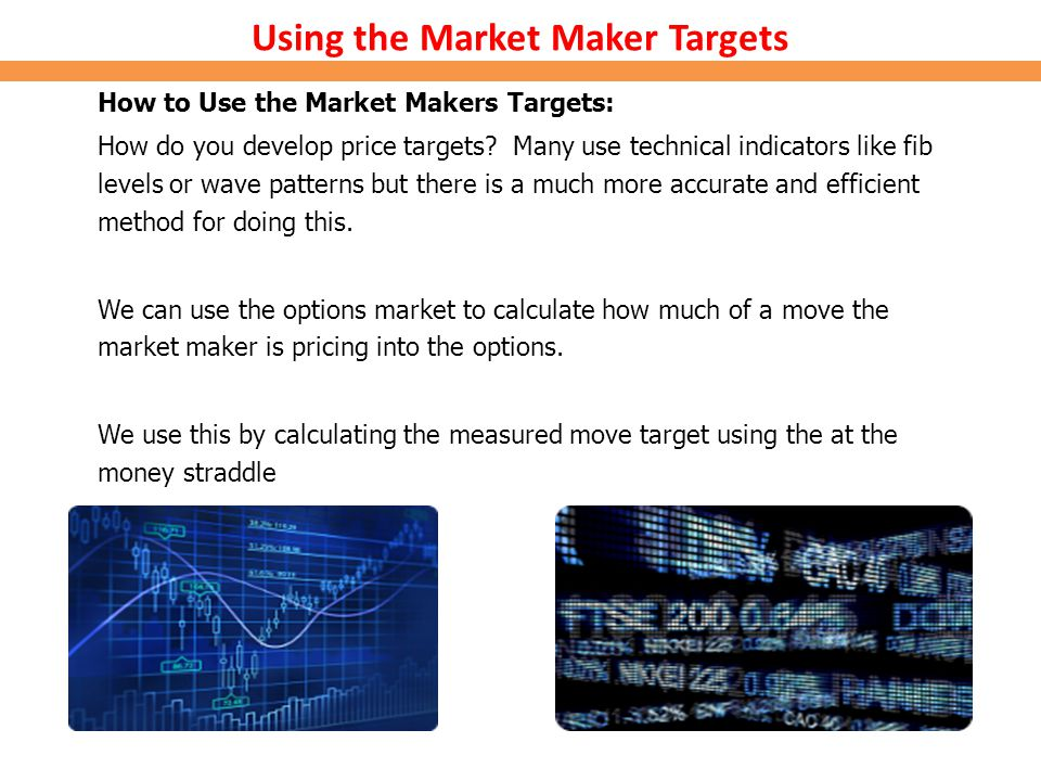 Using the Market Maker Targets