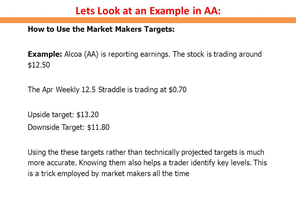 Lets Look at an Example in AA: