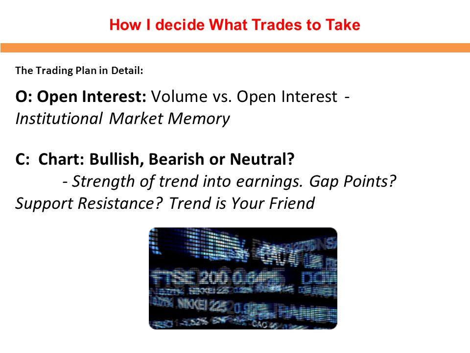 How I decide What Trades to Take