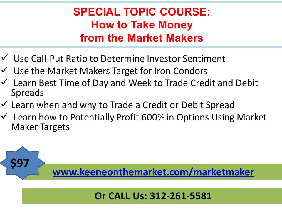 SPECIAL TOPIC COURSE: How to Take Money from the Market Makers