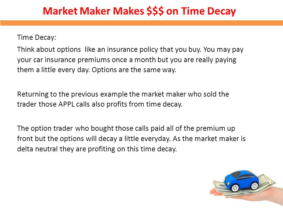 Market Maker Makes $$$ on Time Decay