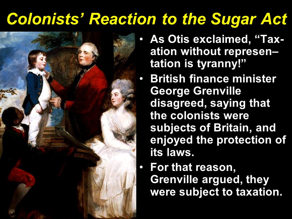 Colonists' Reaction to the Sugar Act