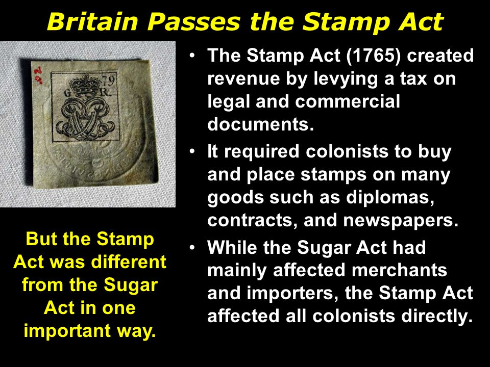 Britain Passes the Stamp Act