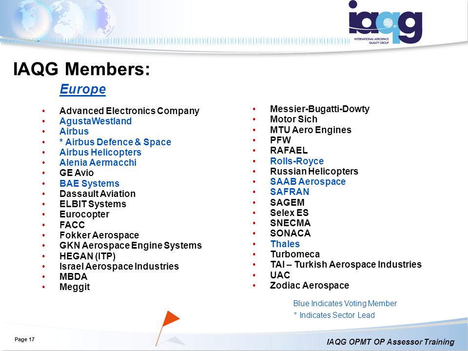 IAQG Members: Europe Advanced Electronics Company