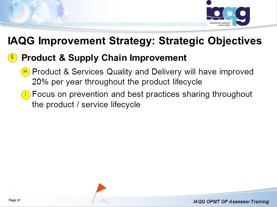 IAQG Improvement Strategy: Strategic Objectives