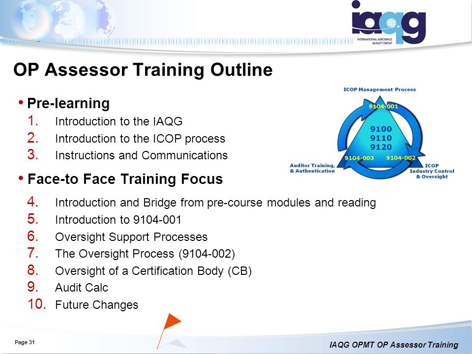 OP Assessor Training Outline