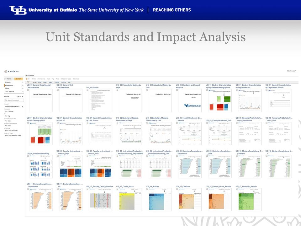 Unit Standards and Impact Analysis