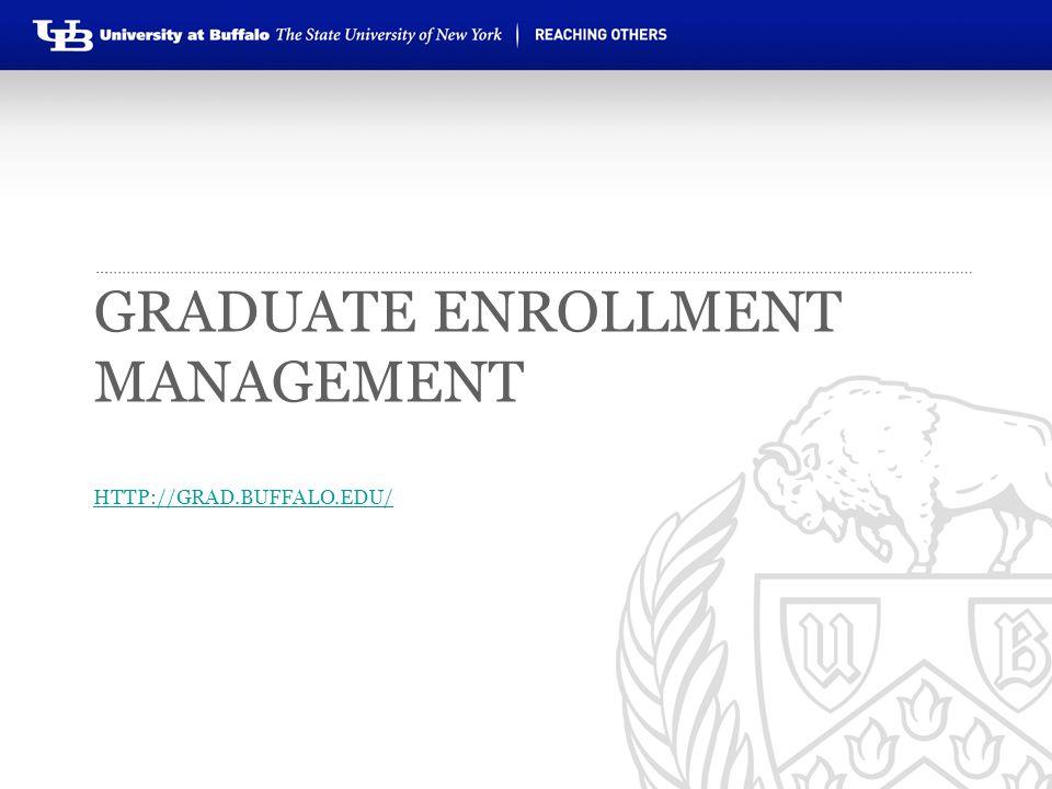 Graduate Enrollment Management http://grad.buffalo.edu/