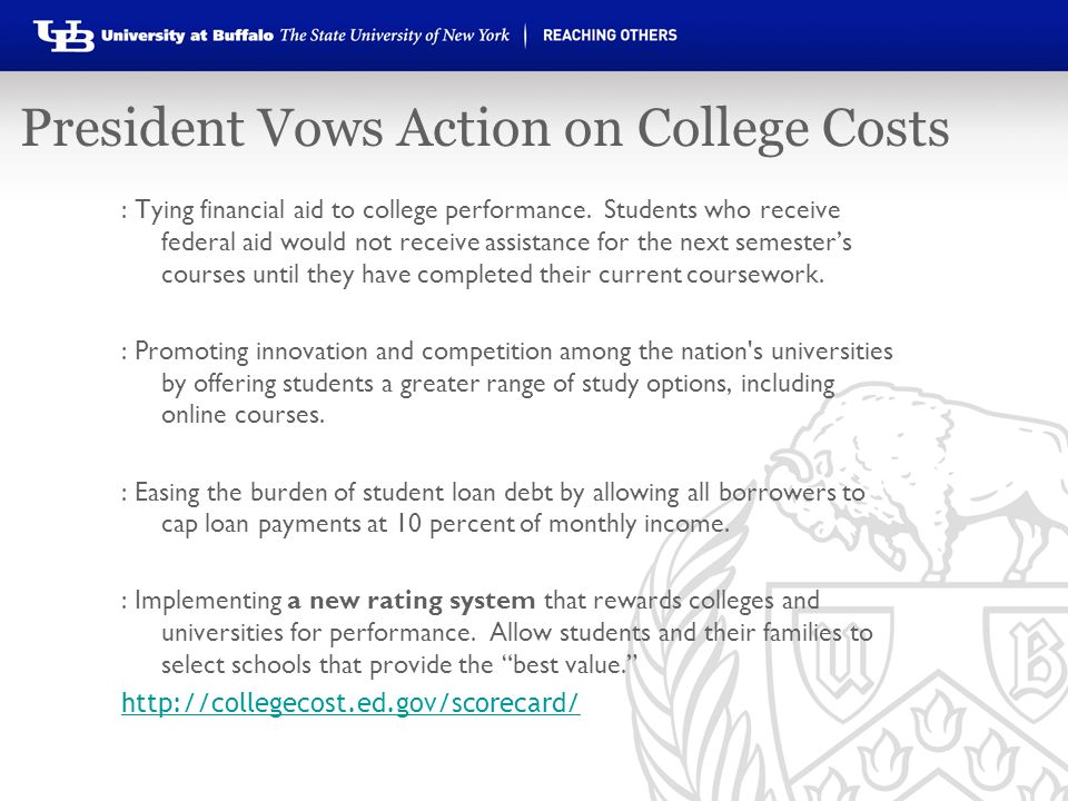 President Vows Action on College Costs