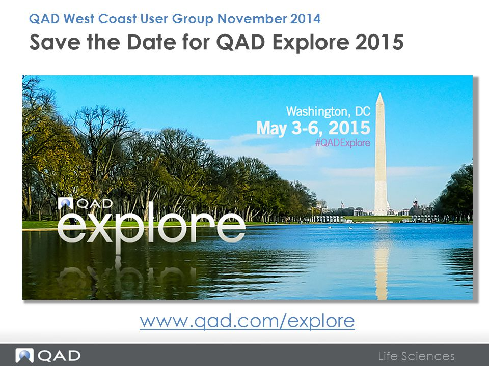 Save the Date for QAD Explore 2015
