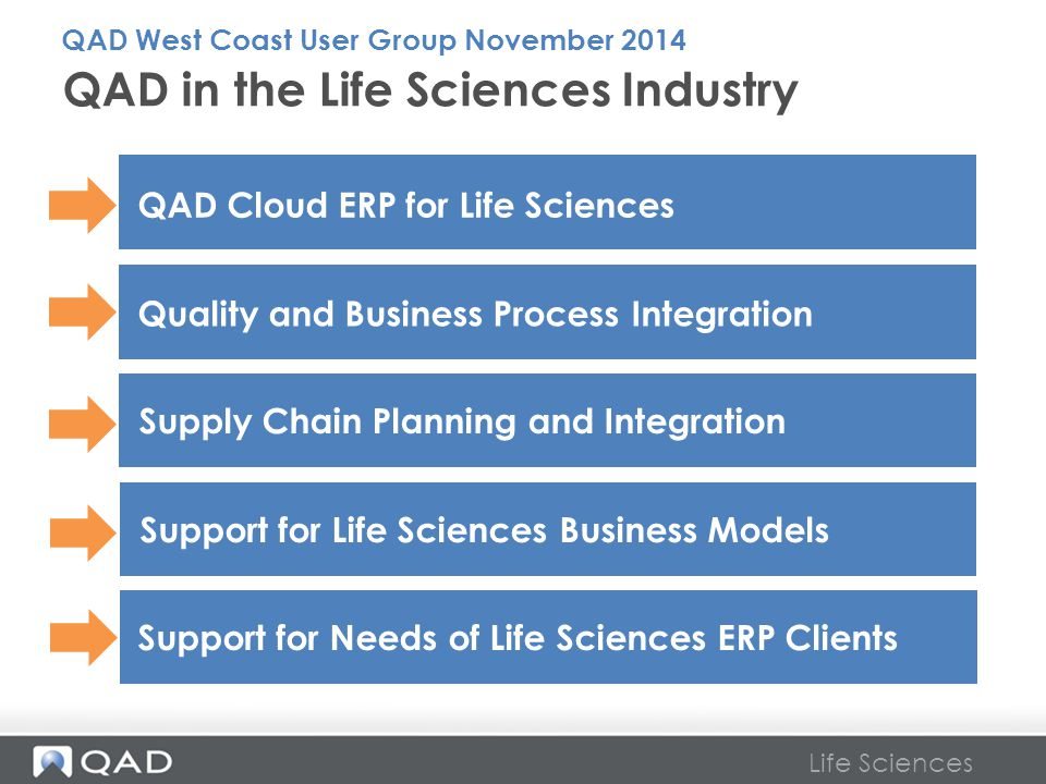 QAD in the Life Sciences Industry