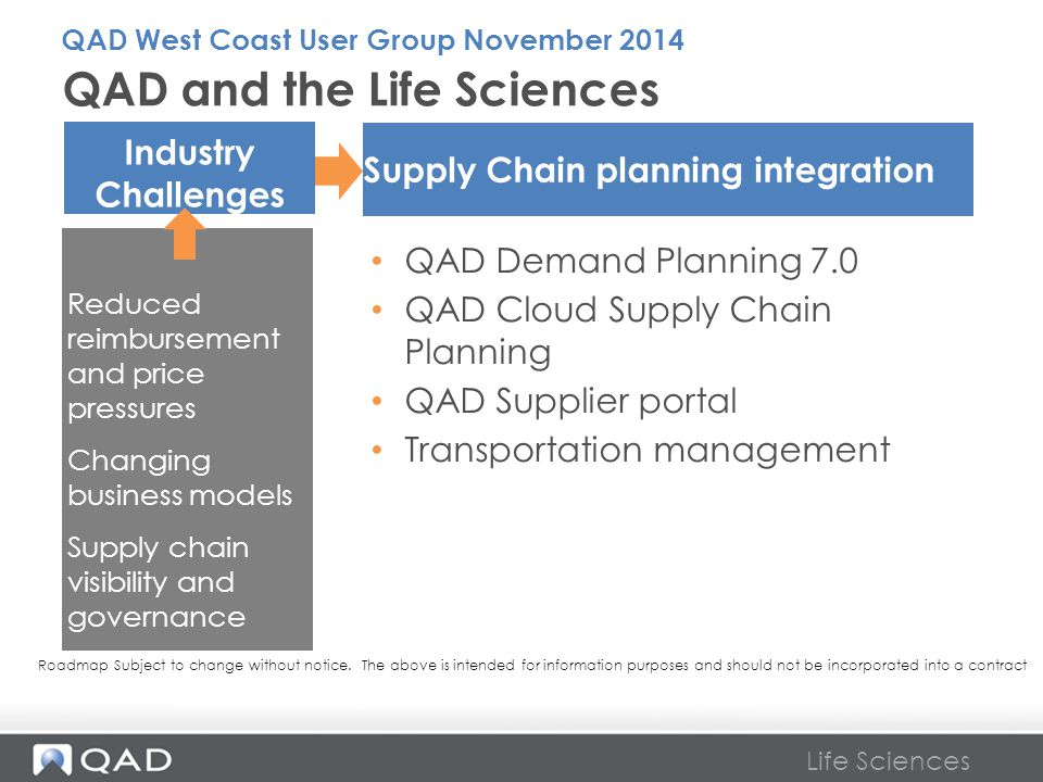 QAD and the Life Sciences