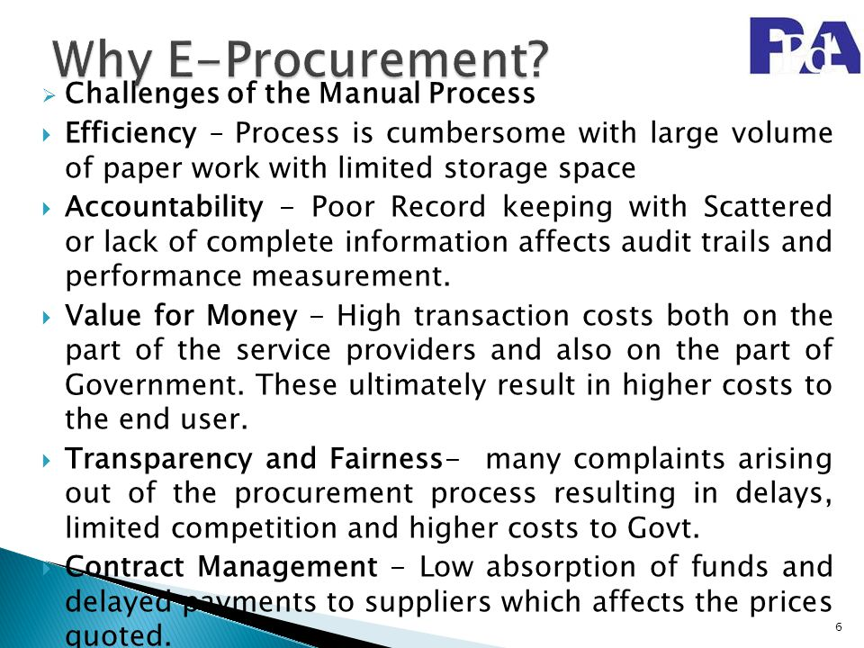 Why E-Procurement Challenges of the Manual Process