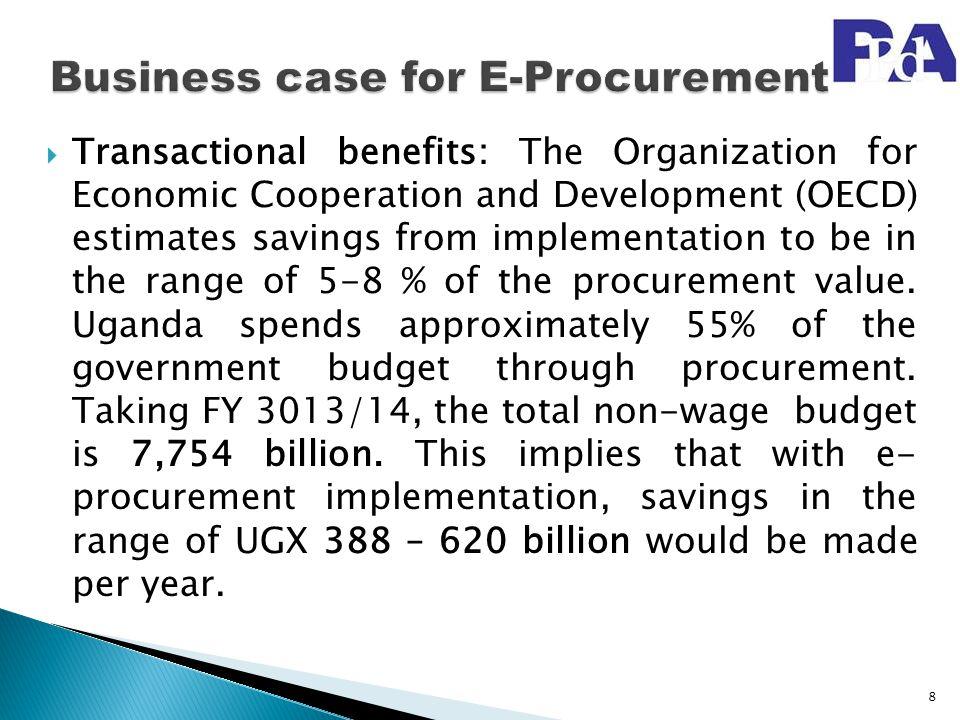 Business case for E-Procurement