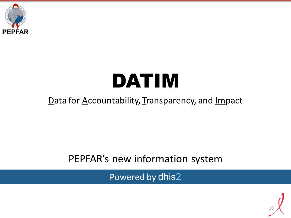 DATIM PEPFAR's new information system