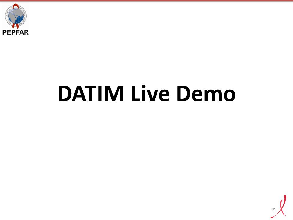 DATIM Live Demo
