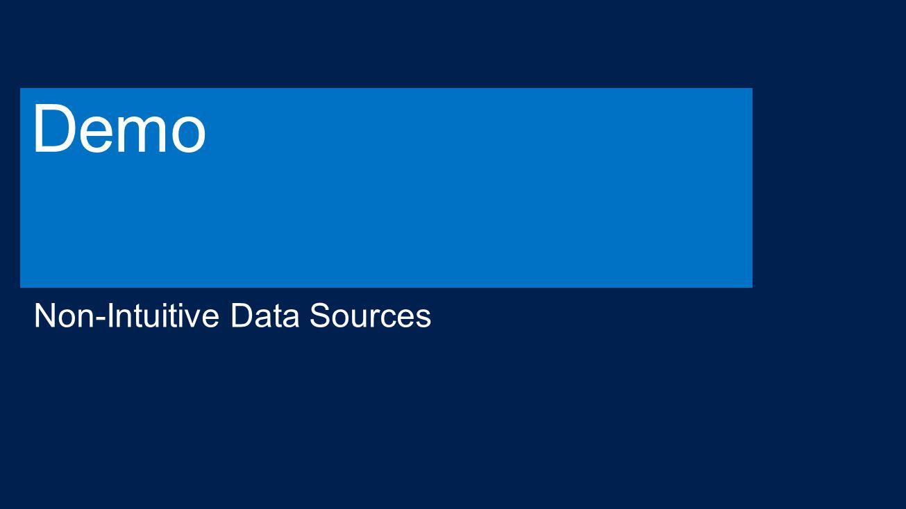 Demo Non-Intuitive Data Sources 4/13/2017 2:58 PM