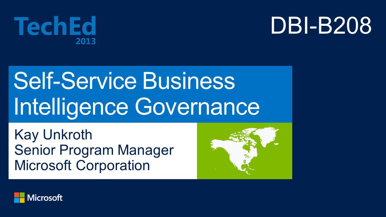 Self-Service Business Intelligence Governance