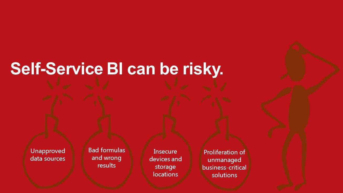 Self-Service BI can be risky.