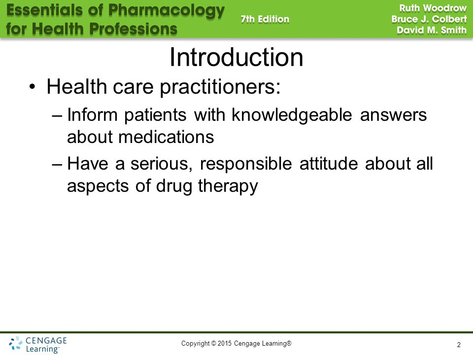 Introduction Health care practitioners: