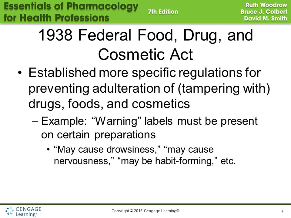 1938 Federal Food, Drug, and Cosmetic Act