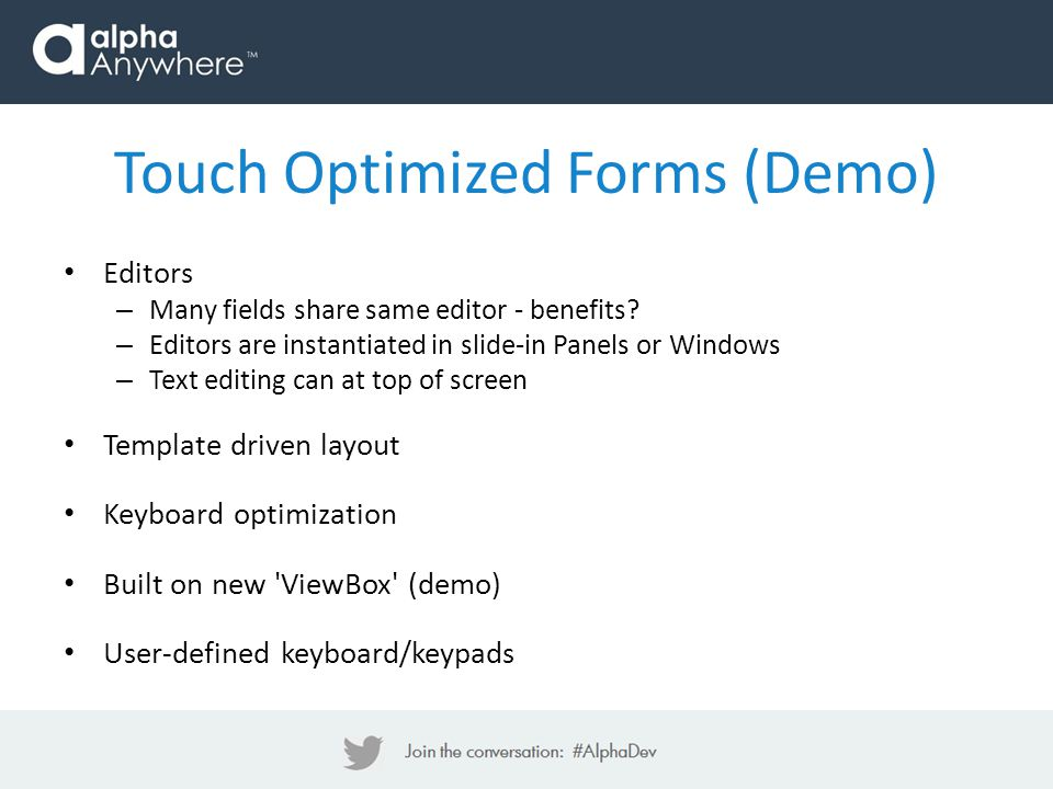 Touch Optimized Forms (Demo)