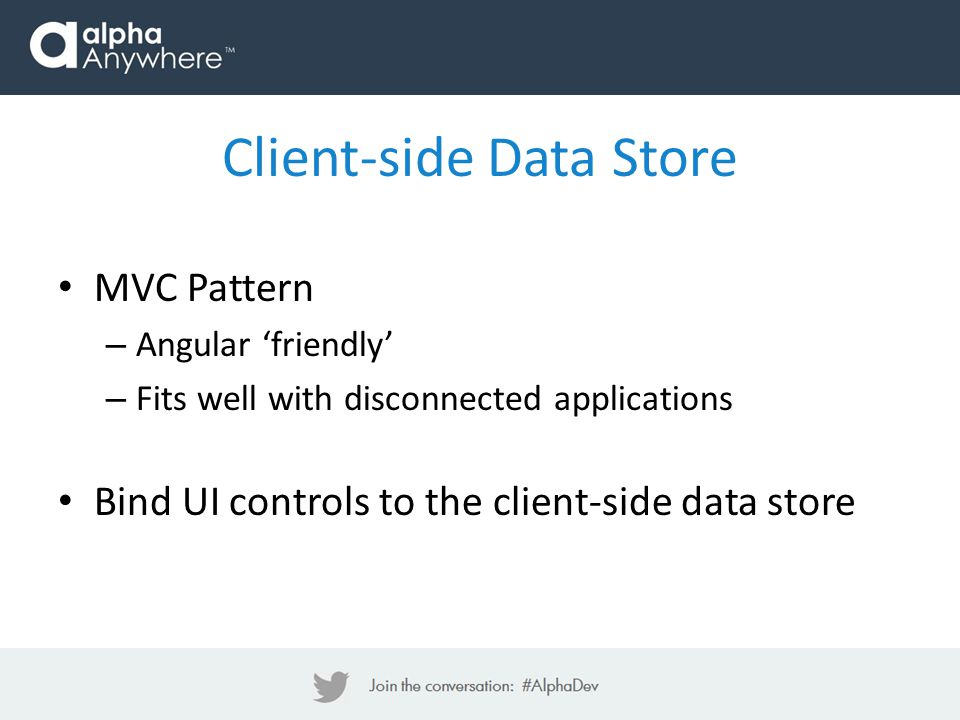 Client-side Data Store