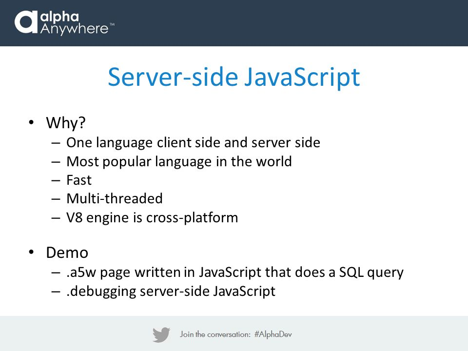 Server-side JavaScript