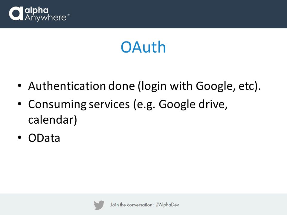 OAuth Authentication done (login with Google, etc).