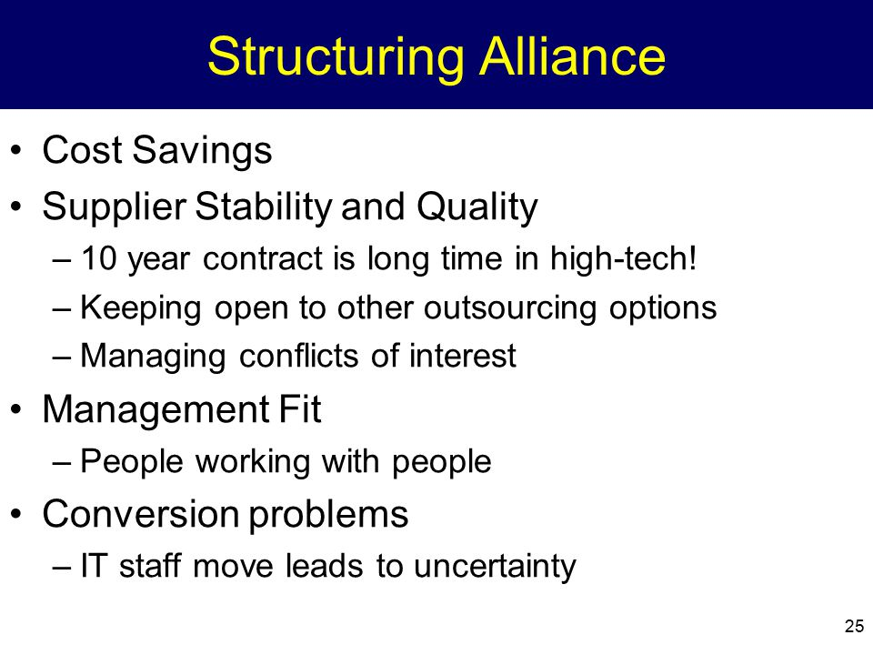 Structuring Alliance Cost Savings Supplier Stability and Quality