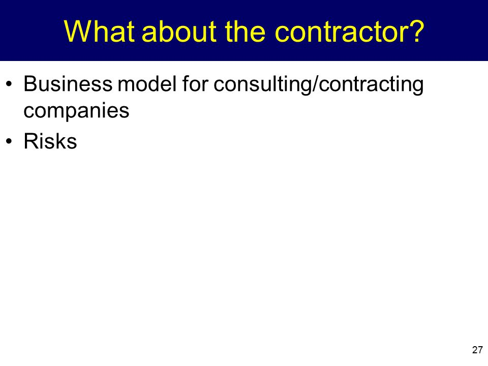 What about the contractor