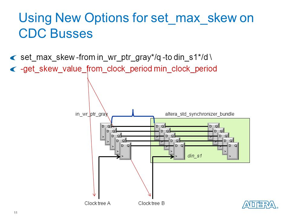 Using New Options for set_max_skew on CDC Busses