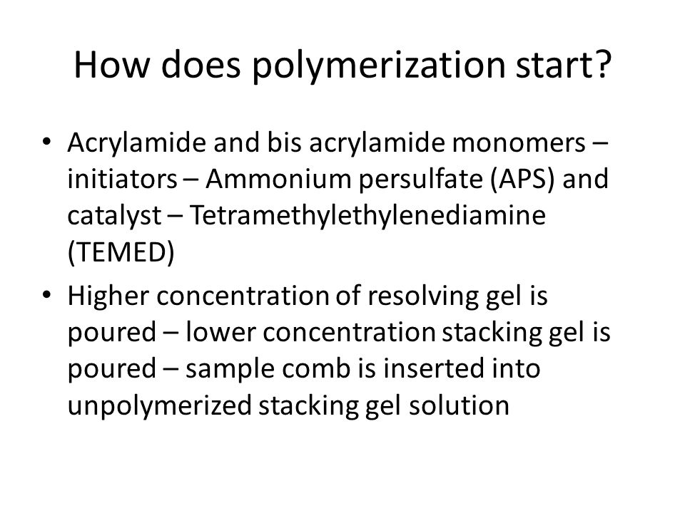 How does polymerization start