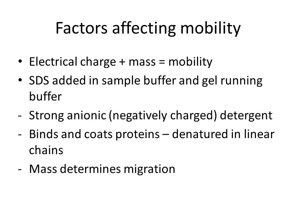 Factors affecting mobility