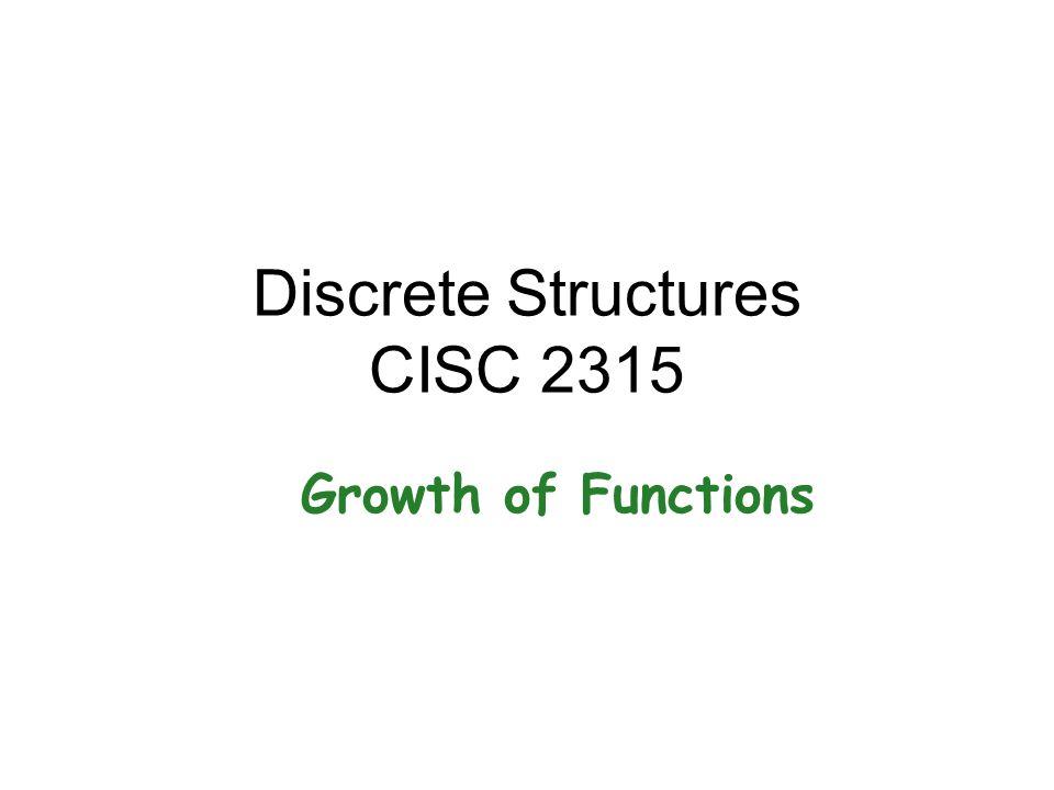 Discrete Structures CISC 2315