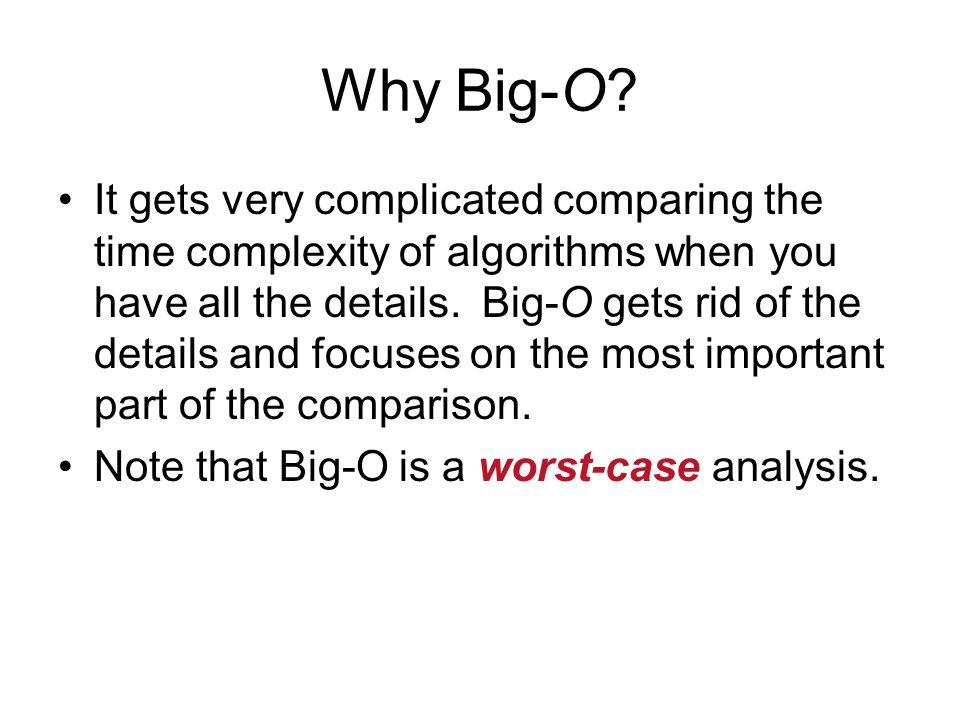 Why Big-O