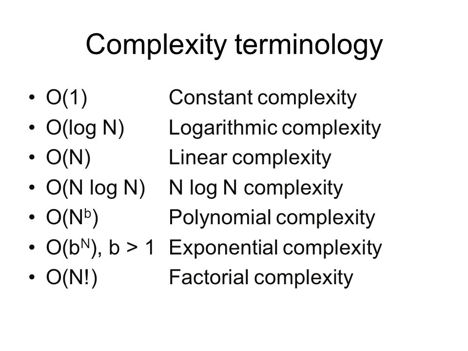 Complexity terminology