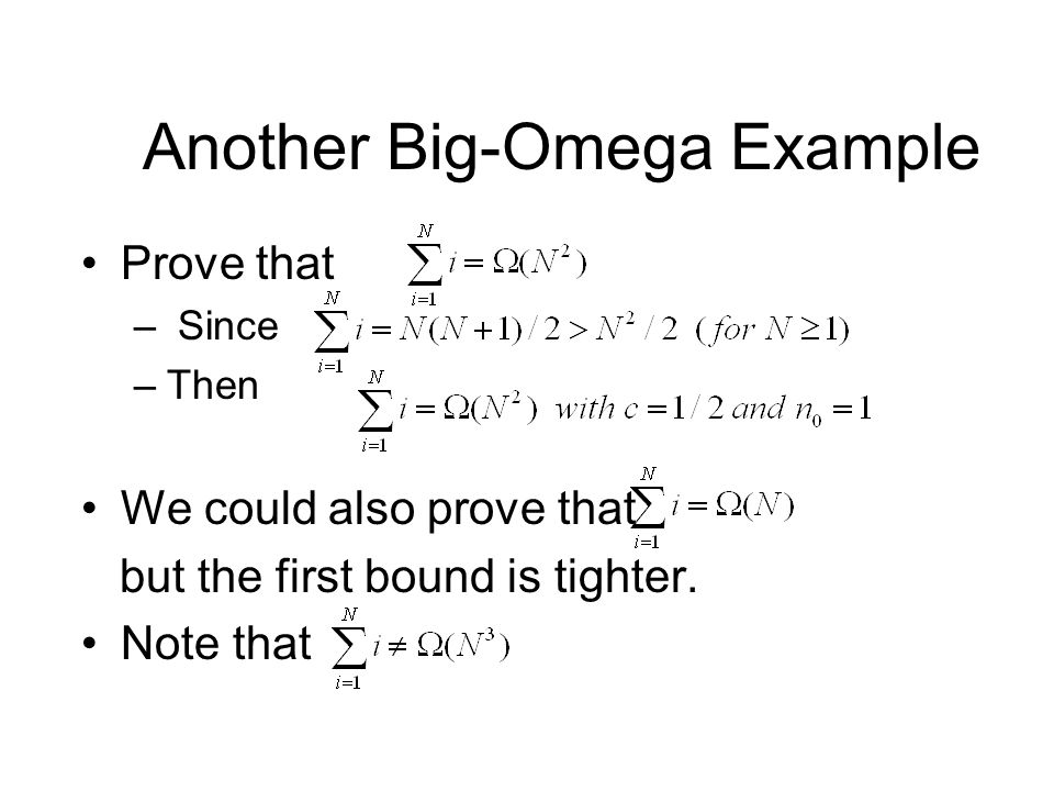 Another Big-Omega Example