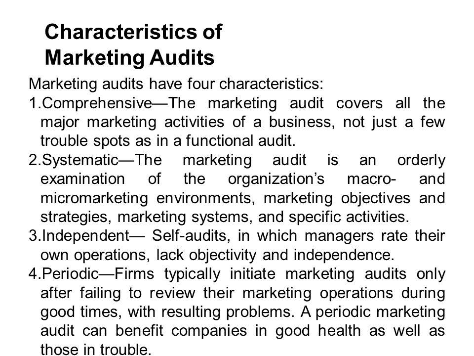 Characteristics of Marketing Audits