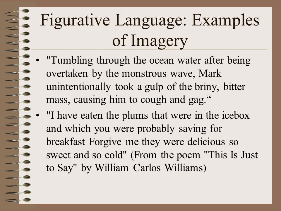 Figurative Language: Examples of Imagery