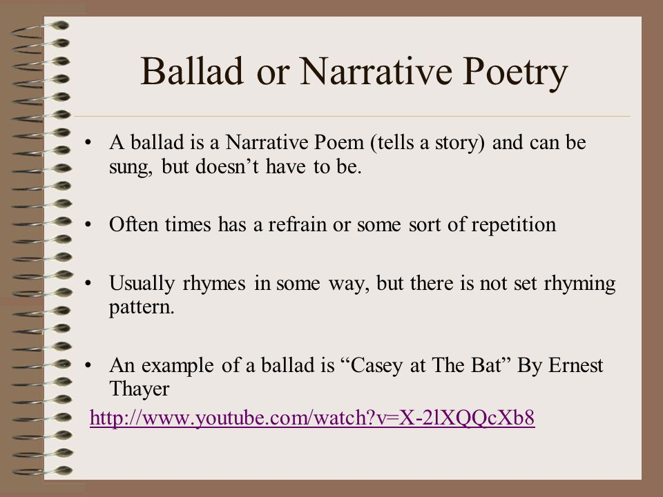 Ballad or Narrative Poetry